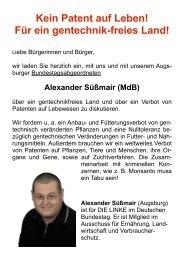 Alex Süßmair 14.10.2010 - DIE LINKE. Oberland