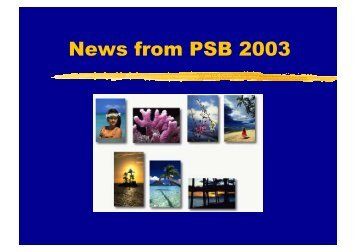 News from PSB 2003