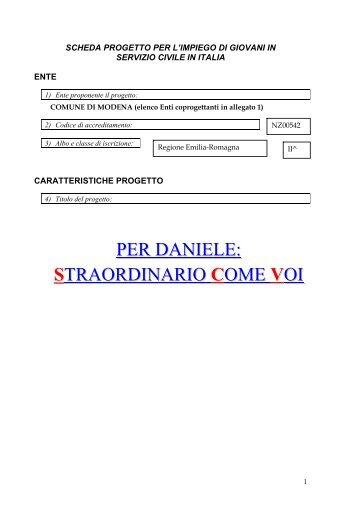 Progetto Unione Pianura Reggiana - Comune di Modena