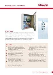 Electronic Sirens – Value Range - Klaxon Signals Ltd.