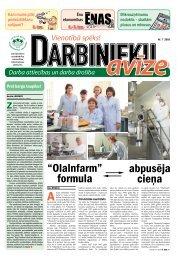 Darbinieku avīze Nr. 7 - Latvijas Brīvo Arodbiedrību Savienība