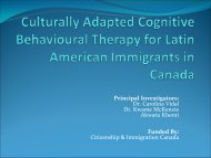 Culturally Adapted Cognitive Behavioural Therapy for Latin ...