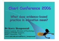 What does evidence-based practice in education mean?