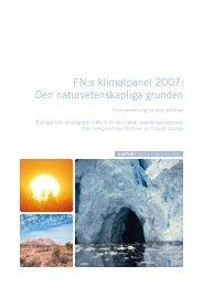 FN:s klimatpanel 2007: Den naturvetenskapliga grunden - IPCC