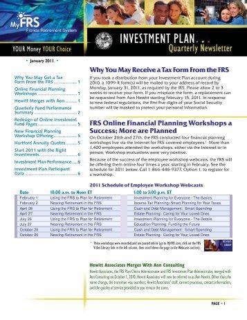 FRS Investment Plan Quarterly Newsletter - 1st ... - Lake County