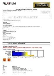 Chemwatch Australian MSDS 32-0741 - FUJIFILM Australia