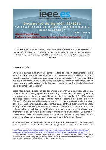 La consolidación de la PESC. ¿Una diplomacia y Defensa ... - IEEE