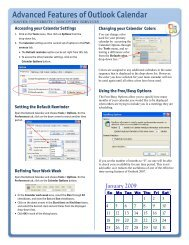 Focus on Outlook Calendar Quick Reference card.pub