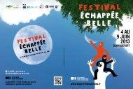 4 aU 9 jUIn 2013 - Festival Echappée Belle