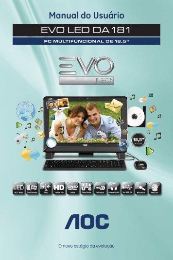 Manual do Usuário EVO LED DA181 - AOC