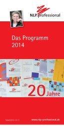 Das Programm 2014 20Jahre - NLP professional