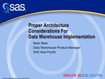 Proper Architecture Considerations For Data Warehouse ...