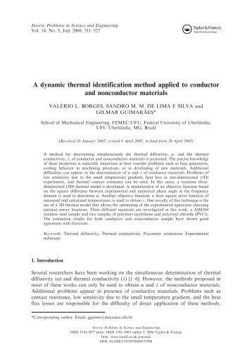 A dynamic thermal identification method applied to condutor ... - IEM