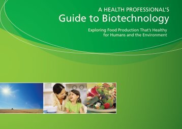 Health Professional's Guide to Biotechnology - SoyConnection.com