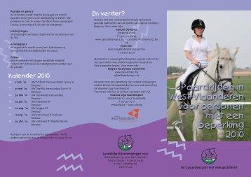 Paardrijden in West-Vlaanderen voor personen met een ... - VLP