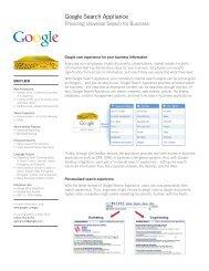 Google Search Appliance - OSCS