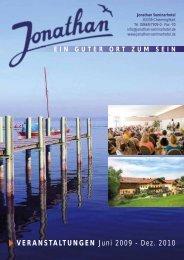 VERANSTALTUNGEN Juni 2009 - Dez. 2010 - Jonathan Seminarhotel