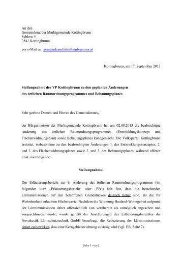 zum Dokument - Volkspartei Kottingbrunn