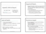 Ingegneria e Analisi dei Requisiti Ingegneria dei Requisiti ... - DMI