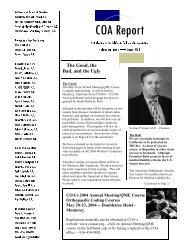COA Report spring 2004.pub - California Orthopaedic Association