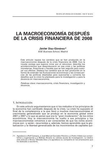 la macroeconomía después de la crisis financiera de 2008 - Revista ...