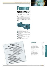 Series K Bevel Helical Gearbox - Fenner® Power Transmission
