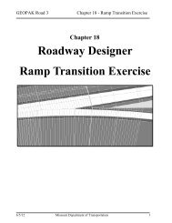 Roadway Designer Ramp Transition Exercise