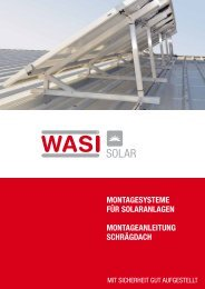 Montageanleitung schrägdach - WASI Solar