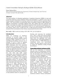 Control of membrane fouling by Hydrogen Sulfide (H2S) diffusion ...