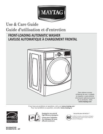 Maytag Mhwe301yw Use And Care Manual