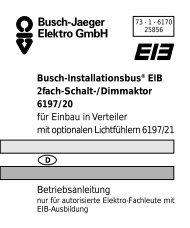 Busch-Installationsbus® EIB 2fach-Schalt-/Dimmaktor ... - Eibmarkt