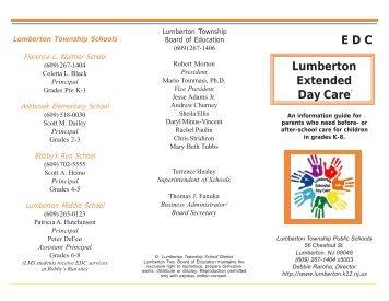 EDC Brochure.pmd - Lumberton Township Schools