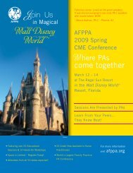 come together - Association of Family Practice Physician Assistants