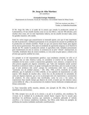 El Científico - Asociación Latinoamericana de Producción Animal