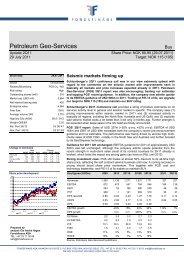 Petroleum Geo-Services - Fondsfinans