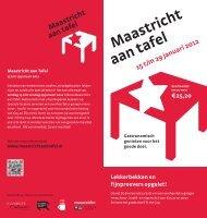 Schuif aan tafel bij - VVV Maastricht