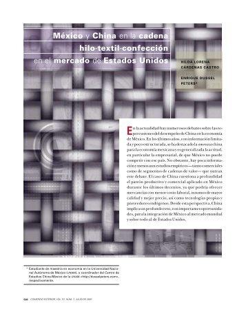 México y China en la cadena hilo-textil-confección en el mercado de ...