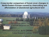 Cross-border comparison of forest cover changes in North-Eastern ...