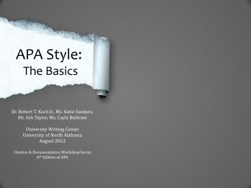 how to set up an apa style paper brandman university