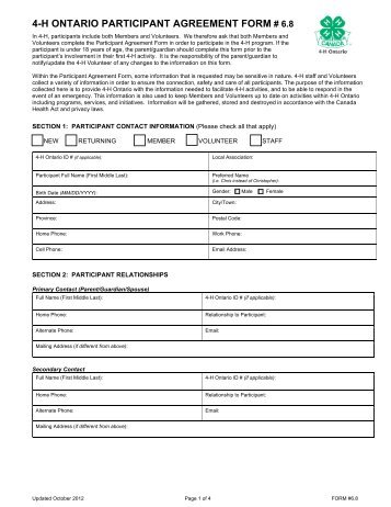 uploads/userfiles/files/Participant Agreement 2013.pdf - 4-H Ontario
