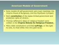 American Models of Government