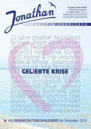 Titel Jonathan Magazin 2009-2:Layout 2 - Jonathan Seminarhotel