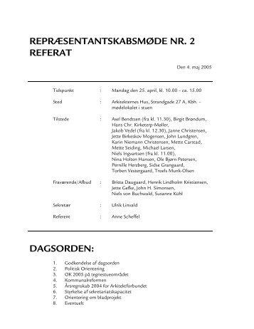MØDE NR - Arkitektforbundet