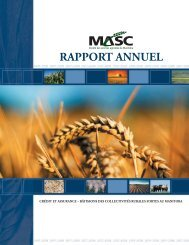 MASC Rapport Annual 2007/08 - Manitoba Agricultural Services ...