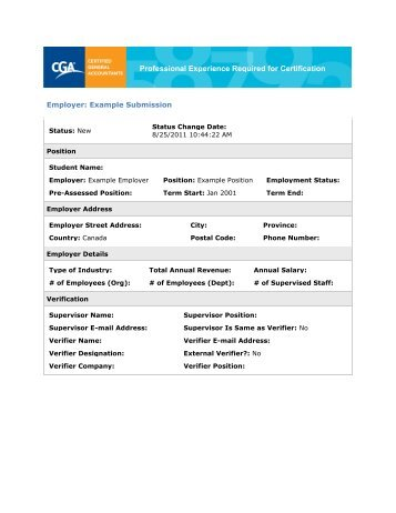 PERC Blank Form - Certified General Accountants of Ontario