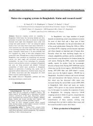 Maize-rice cropping systems in Bangladesh - Search CIMMYT ...