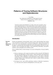 Patterns of Tracing Software Structures and Dependencies