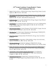 Title List - State Library of Louisiana