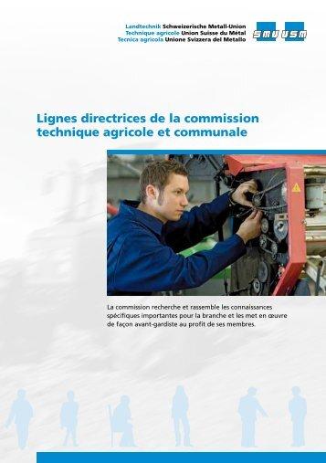 Lignes directrices de la commission technique agricole et ... - SMU