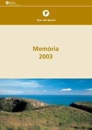 memòria Garraf 2003